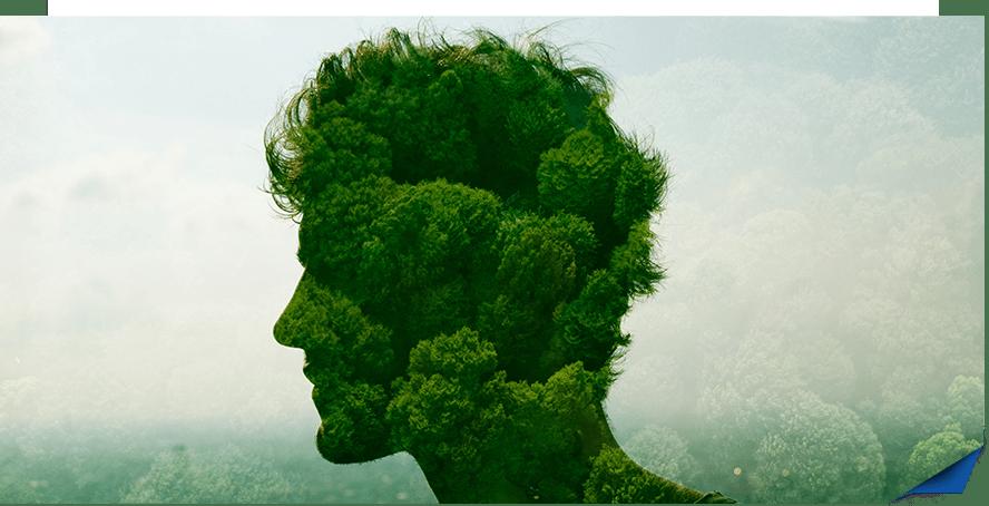 Głowa człowieka stworzone zrośliny